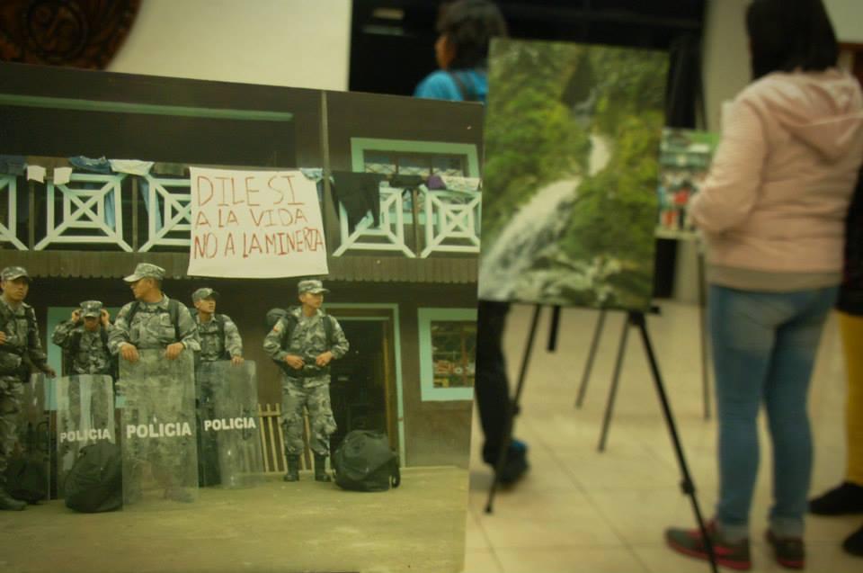 Exposición fotográfica de Intag en la UASB, 12 de diciembre de 2014
